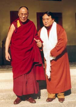 His Holiness the Dalai Lama with Sogyal Rinpoche Photos 3 sizes