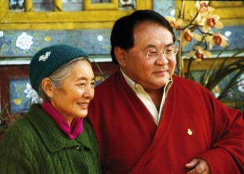 Sogyal Rinpoche and Khandro Tséring Chödron 3 sizes