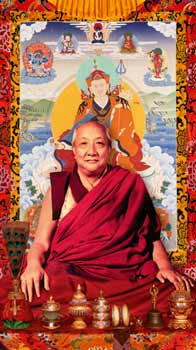 Dilgo Khyentse Rinpoche with Guru Rinpoche Photos 3 sizes