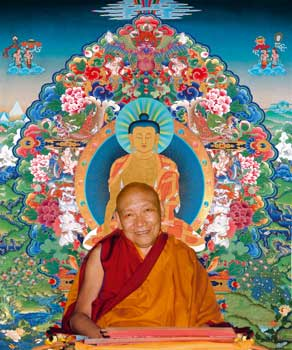 Kyabjé Trulshik Rinpoche with the six paramitas Photos 4 sizes