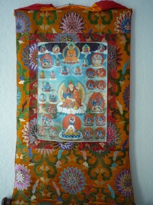 Tendrel Nyesel Brocard Thangka