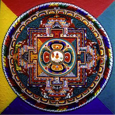 Chime Phakme Nyingtik mandala card for shrine