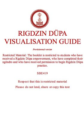 Rigdzin Düpa Visualisation Guide