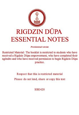 Rigdzin Düpa Essential Notes