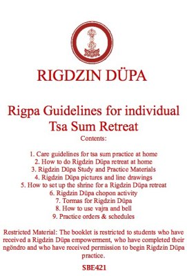 Rigpa Guidelines for Individual Tsa Sum Retreat