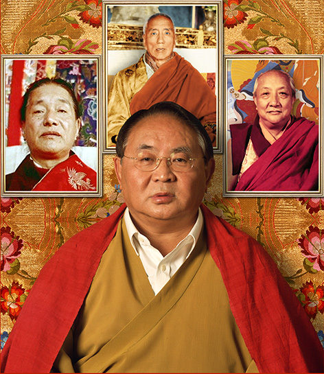 Sogyal Rinpoche with his masters Photos 3 sizes