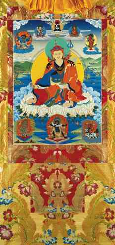Guru Rinpoche Vinyl Thangka 5 sizes